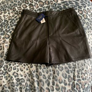 Ralph Lauren black leather shorts